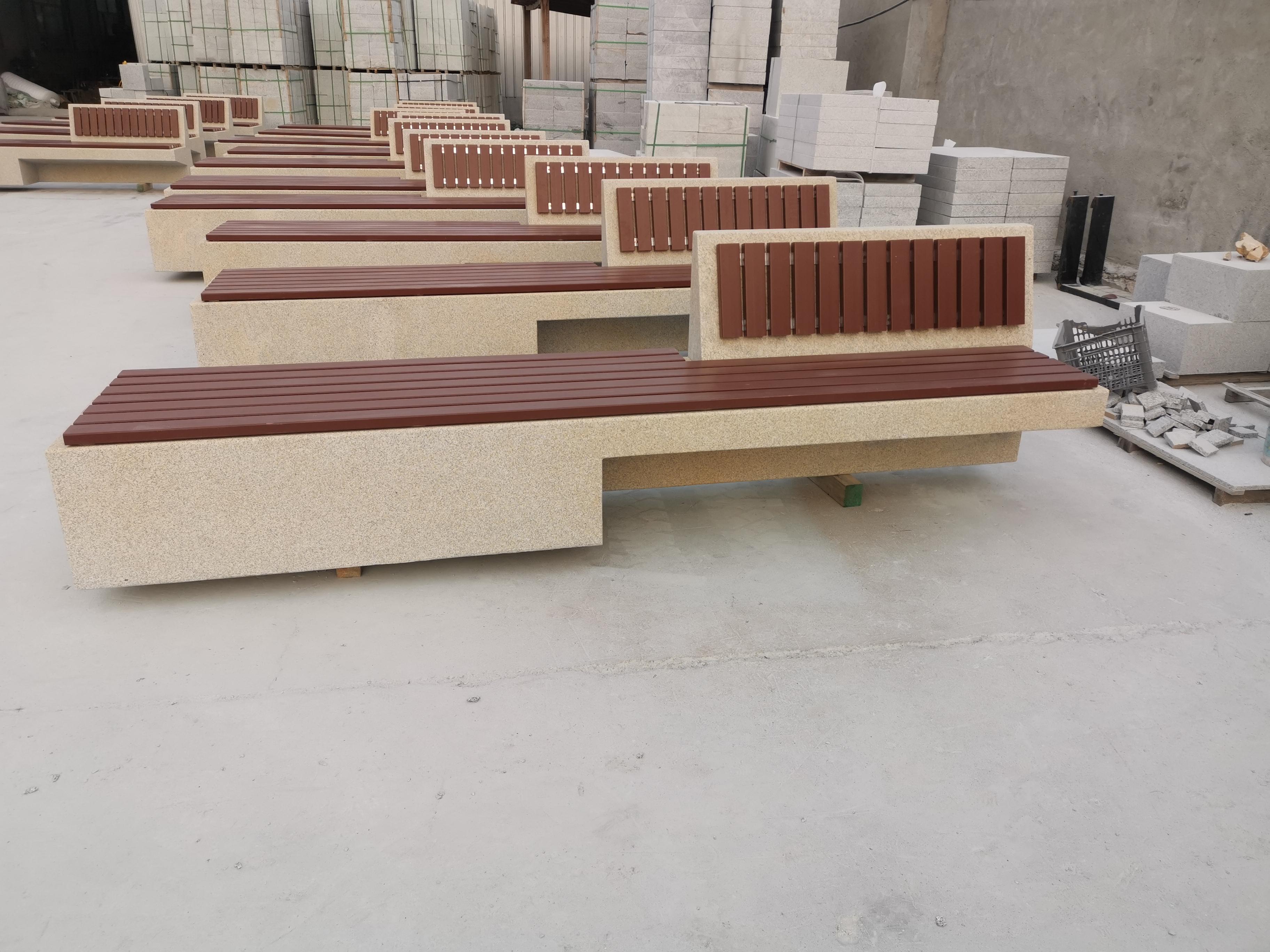 天津园林椅|石材座椅SC-001